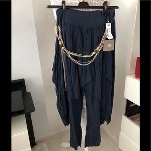 Pants - Pants with skirt overlay